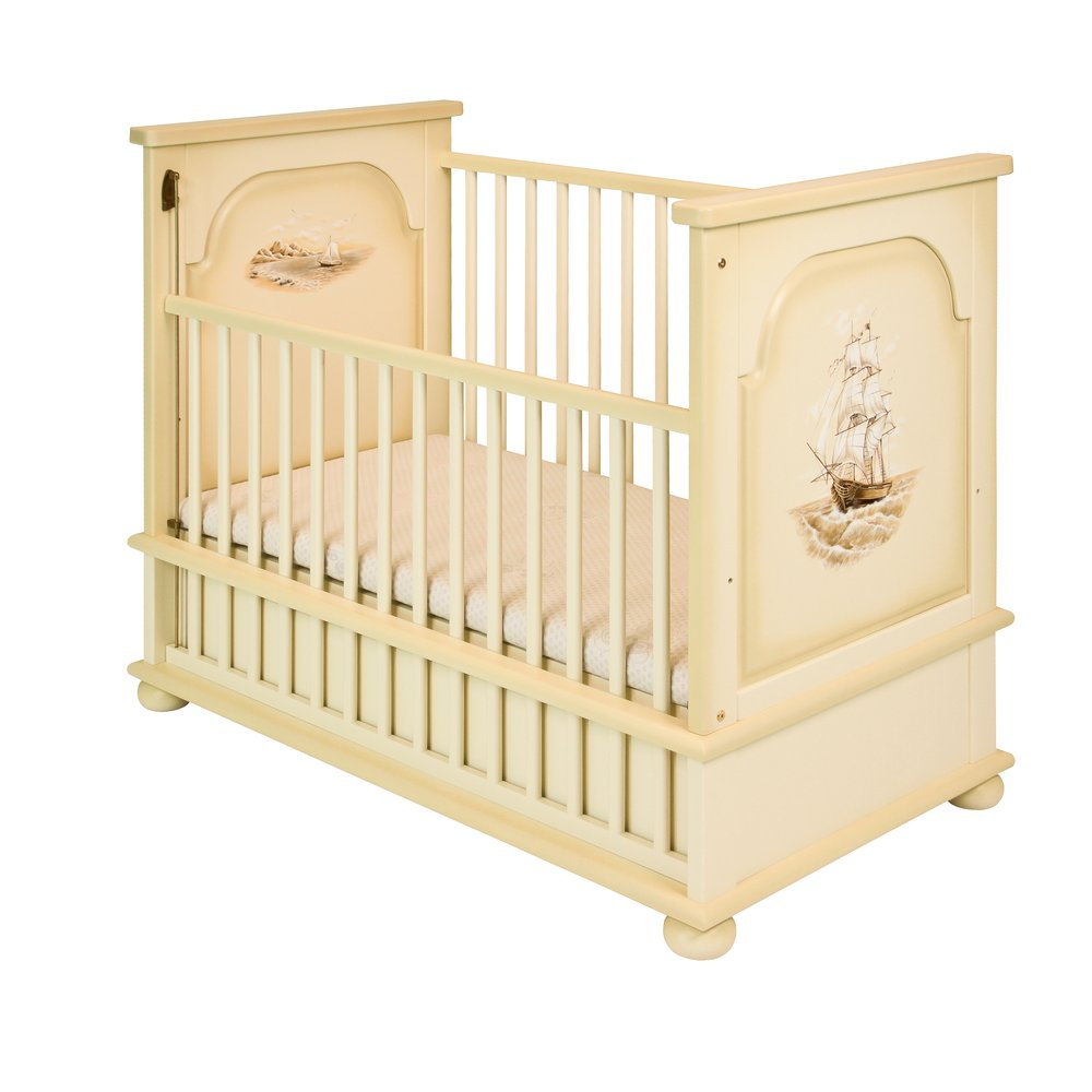 Ivory Cot Bed - Brigantine (ivory) Collection
