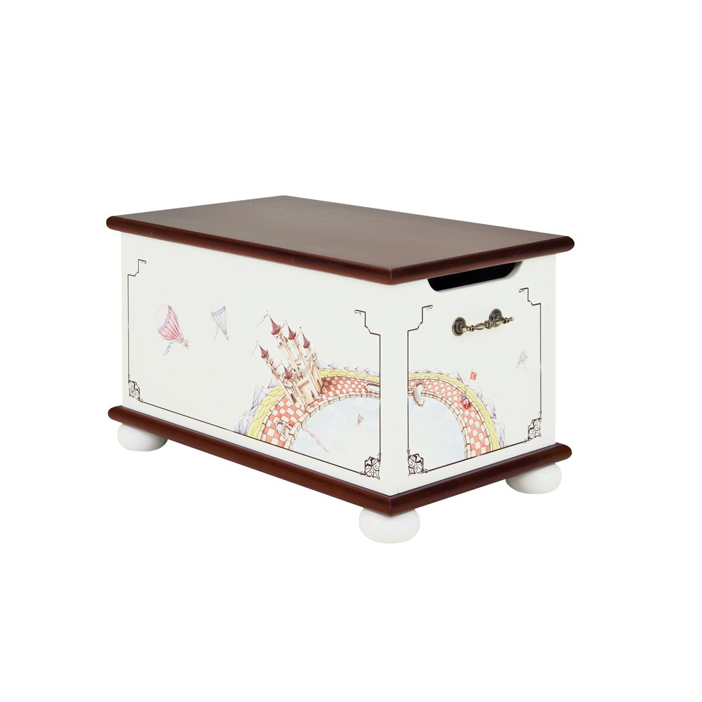 Dark Wood Toy Box | Toy Boxes | Fantasy Kingdom Collection | Woodright Home UK