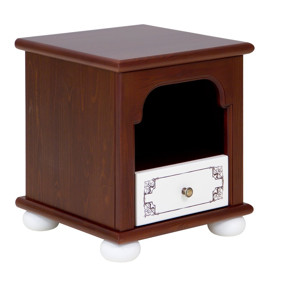 Dark Wood Children's Bedside Table | Children's Storage | Fantasy Kingdom Collection | Woodright Home UK