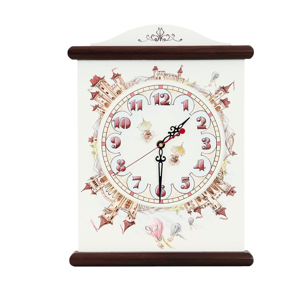 Dark Wood Kids Silent Wall Clock | Wall Clocks | Fantasy Kingdom Collection | Woodright Home UK