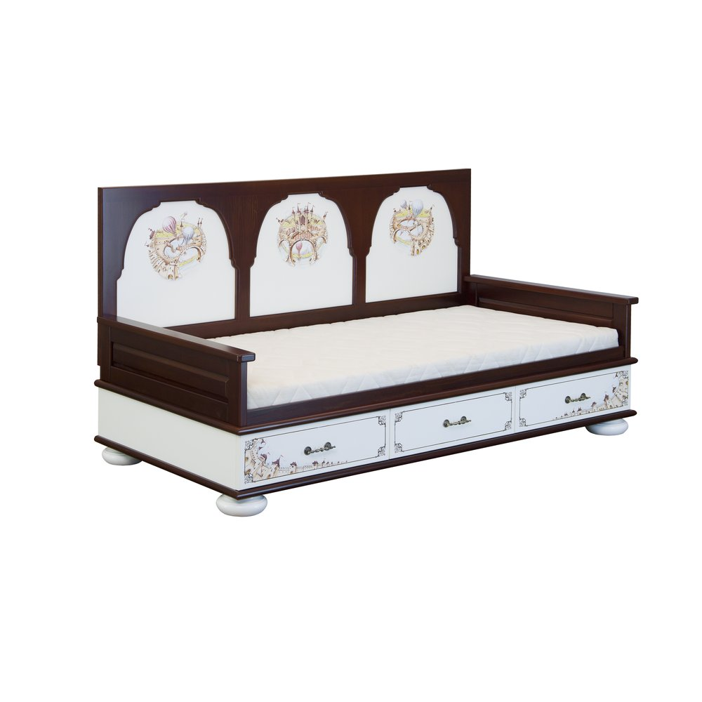 Dark Wood Children's Day Bed | Children's Beds | Fantasy Kingdom Collection | Woodright Home UK