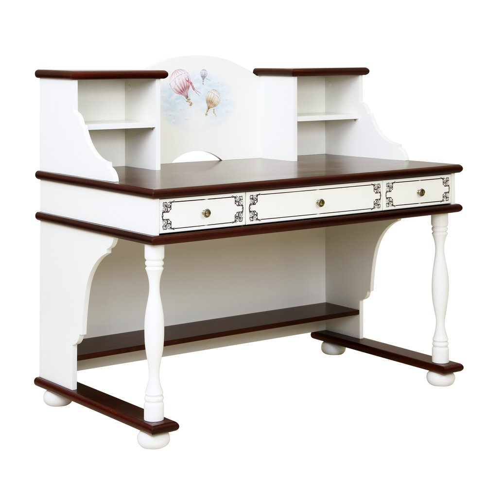 Kids Dark Wood Writing Table with Top | Children's Tables & Chairs | Fantasy Kingdom Collection | Woodright Home UK