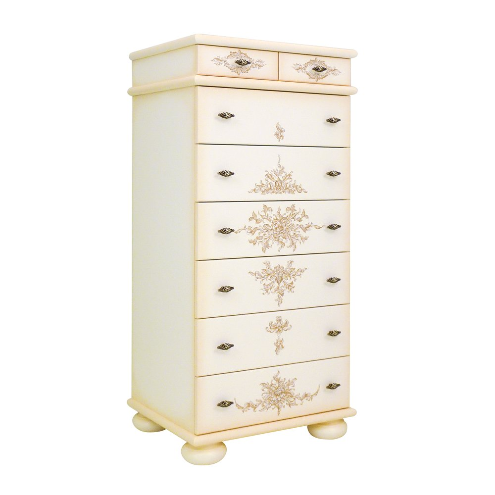 Cream Tall Chest of Drawers | Children's Chests of Drawers | Infanta Collection | Woodright Home UK