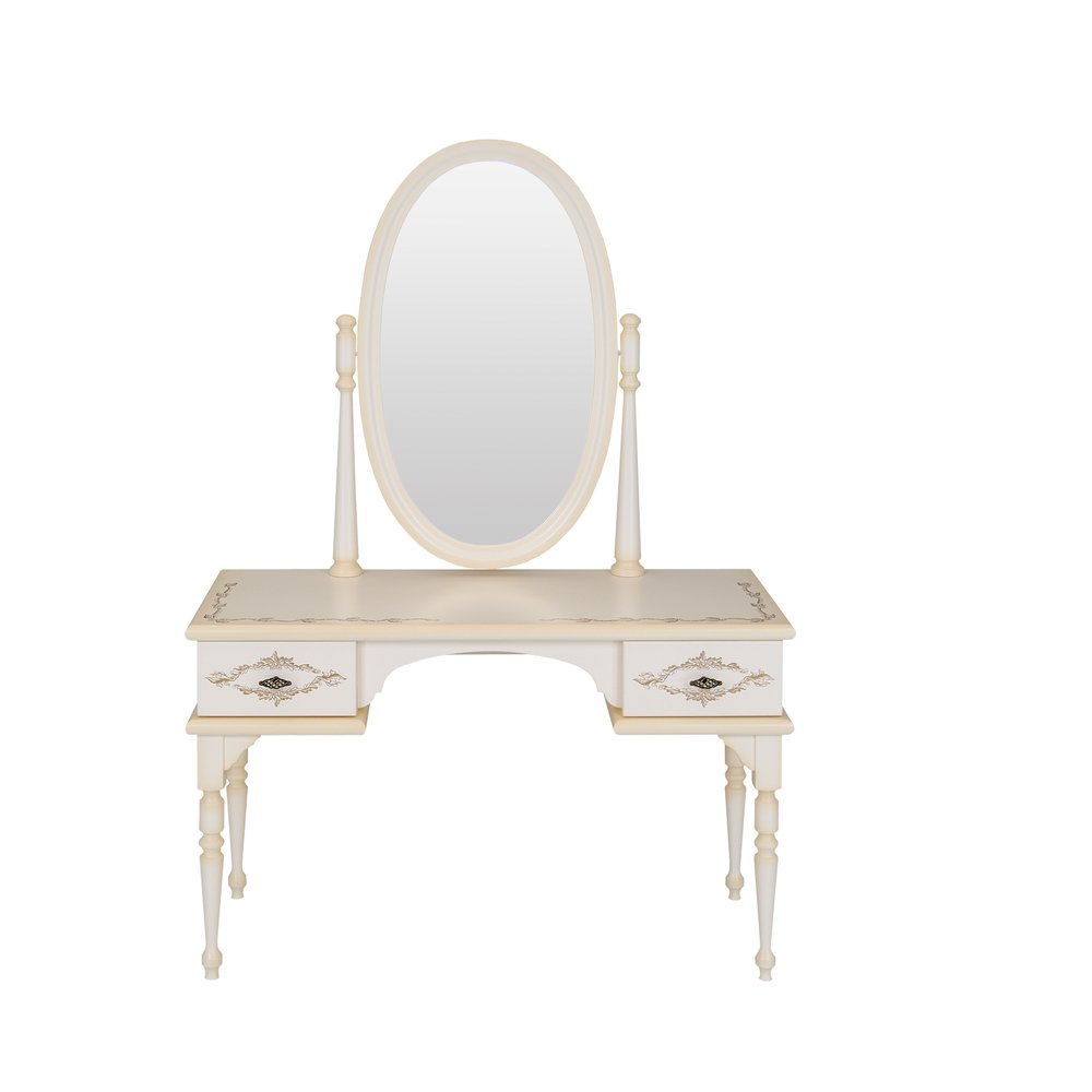 Cream Children's Dressing Table | Children's Tables & Chairs | Infanta Collection | Woodright Home UK