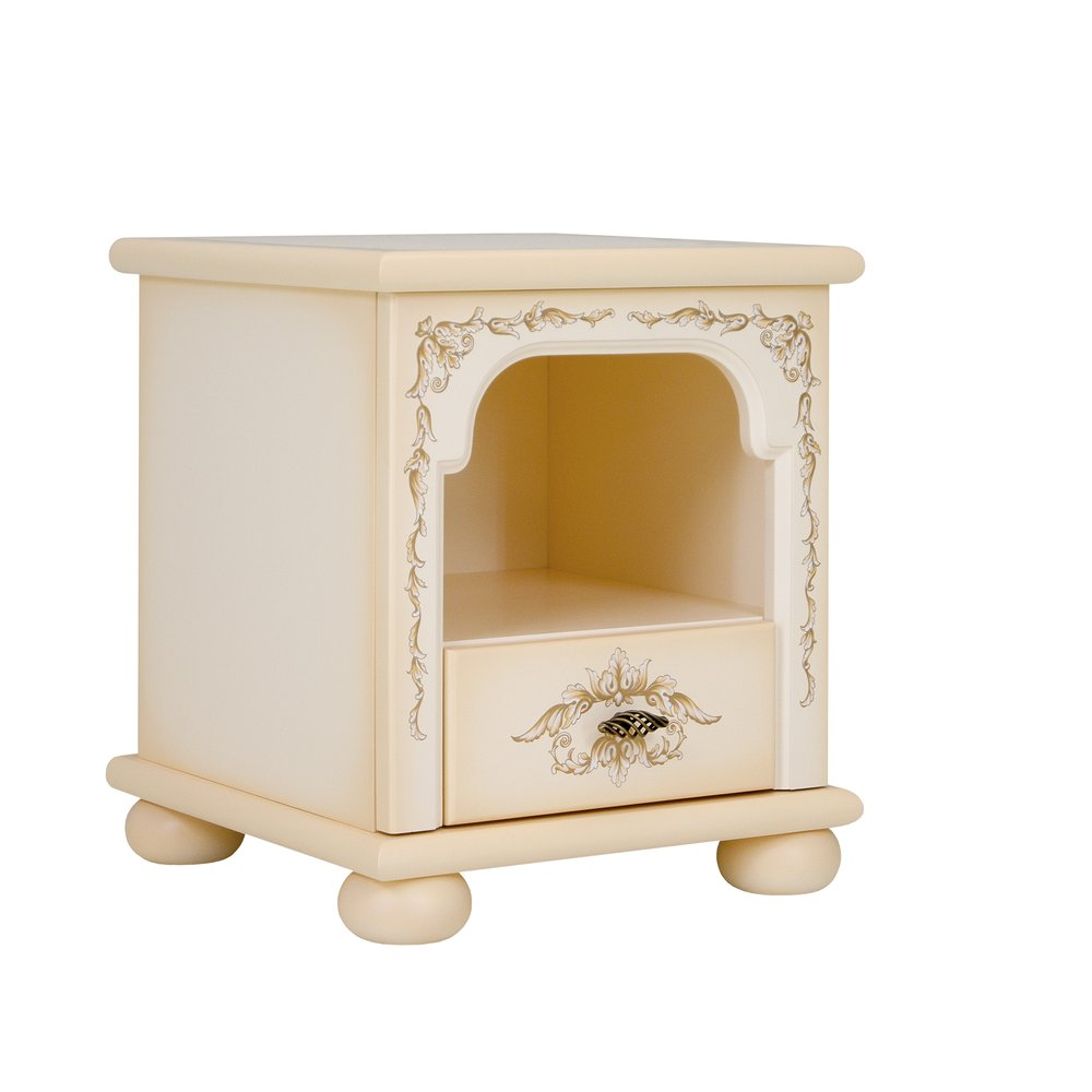 Cream Children's Bedside Table | Children's Storage | Infanta Collection | Woodright Home UK
