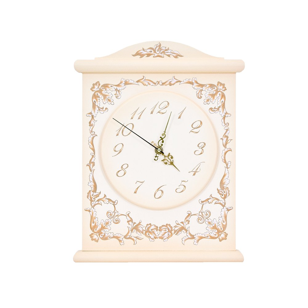 Cream Silent Wall Clock | Wall Clocks | Infanta Collection | Woodright Home UK