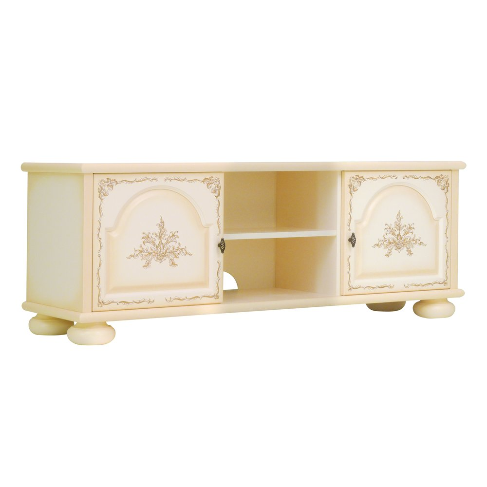 Cream Children's TV Stand | Children's Storage | Infanta Collection | Woodright Home UK