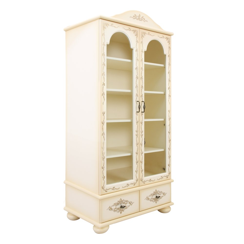 Cream Children's Glazed Bookcase | Children's Storage | Infanta Collection | Woodright Home UK