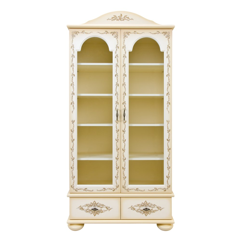 Cream Children's Glazed Bookcase | Children's Storage | Infanta Collection | Woodright Home UK