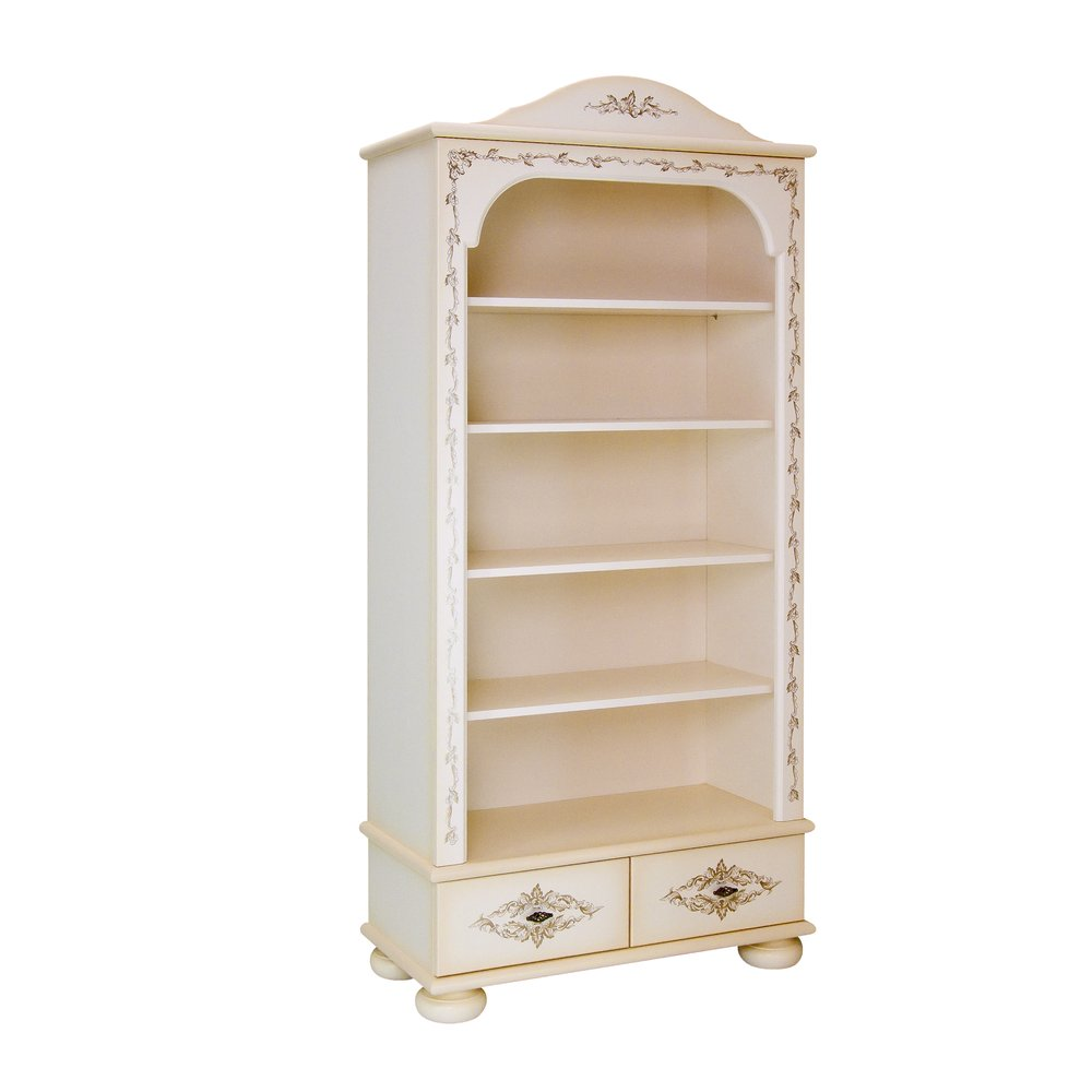Cream Bookcase with Drawers | Children's Storage | Infanta Collection | Woodright Home UK