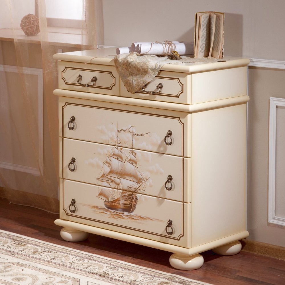 Luxury Childrens Chests Of Drawers with Hand-Painted Artwork - Woodright Home