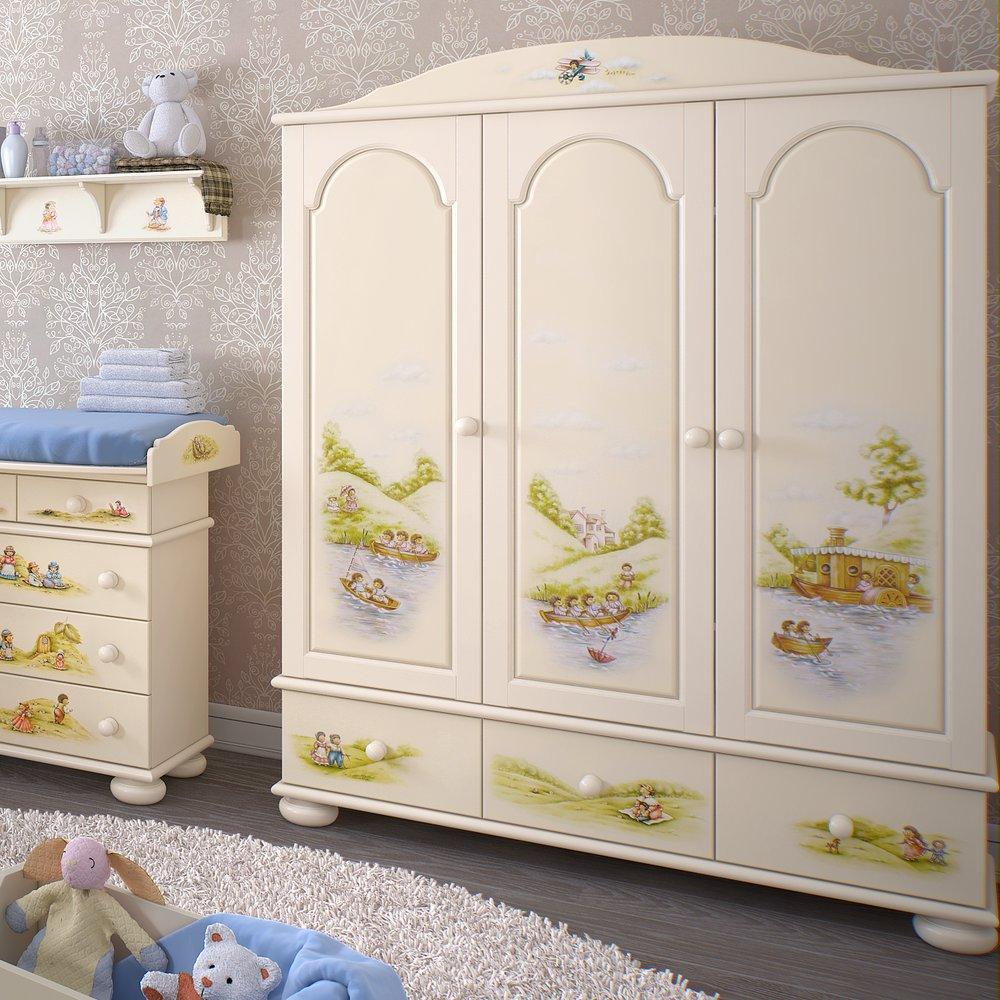 Luxury children 39 s wardrobes cupboards woodright home uk for Childrens wardrobes uk