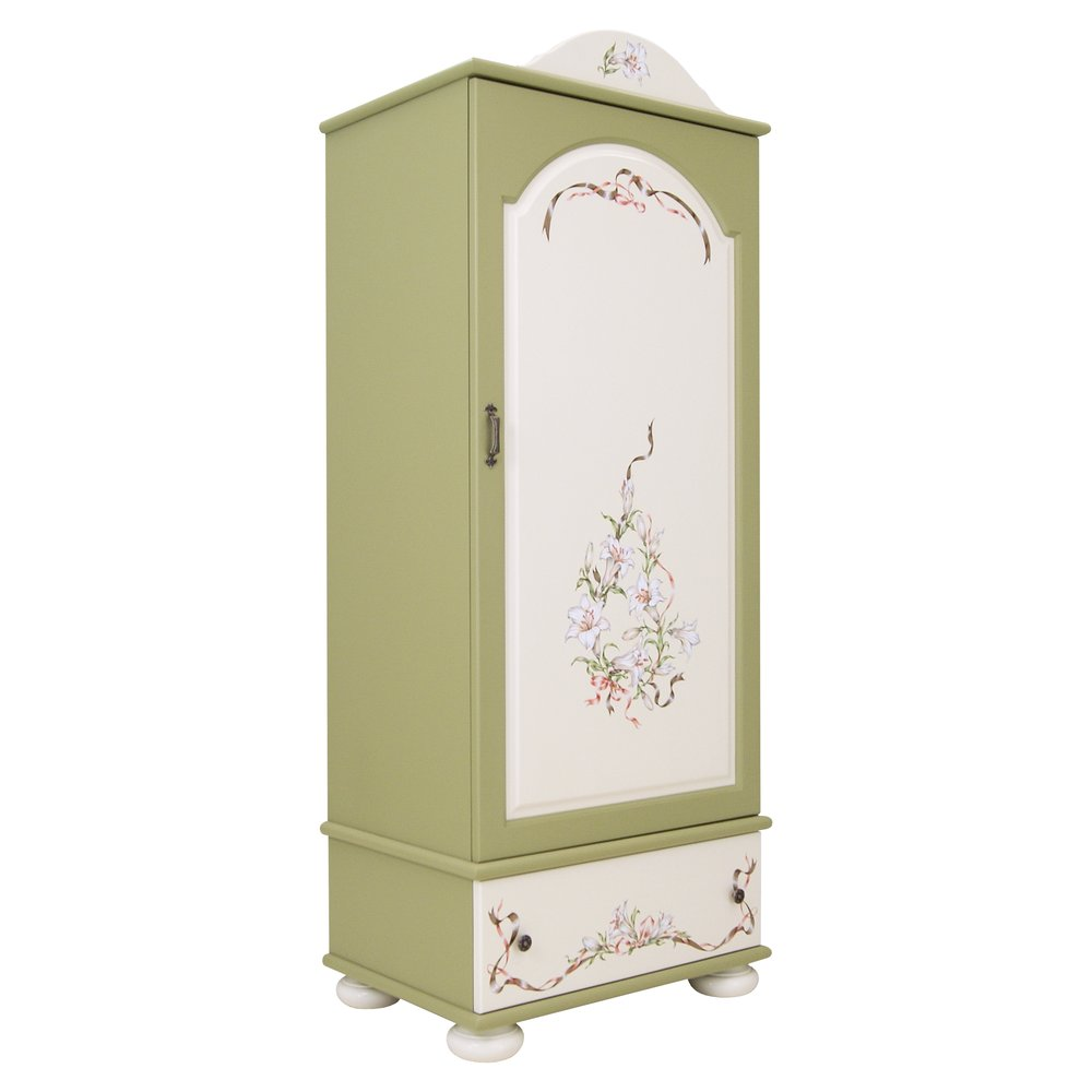 Childrens Olive Single Wardrobe | Children's Wardrobes | Royal Lilies Collection | Woodright Home UK