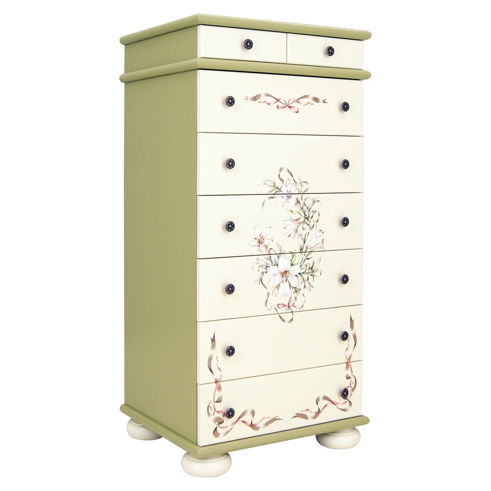 Olive Tall Chest of Drawers | Children's Chests of Drawers | Royal Lilies Collection | Woodright Home UK
