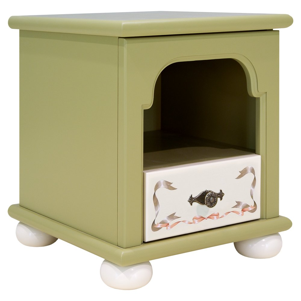 Olive Children's Bedside Table | Children's Storage | Royal Lilies Collection | Woodright Home UK