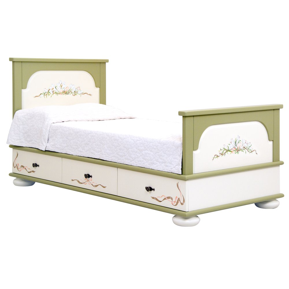 Olive Single Bed with Drawers | Children's Beds | Royal Lilies Collection | Woodright Home UK