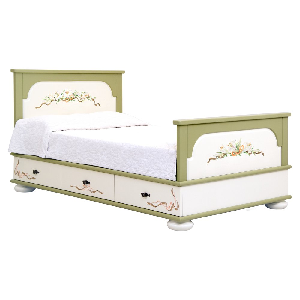 Olive Small Double Bed with Drawers | Children's Beds | Royal Lilies Collection | Woodright Home UK