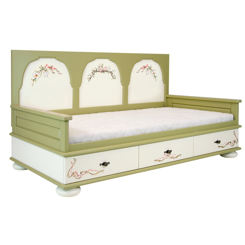 Girl's Olive Day Bed | Children's Beds | Royal Lilies Collection | Woodright Home UK