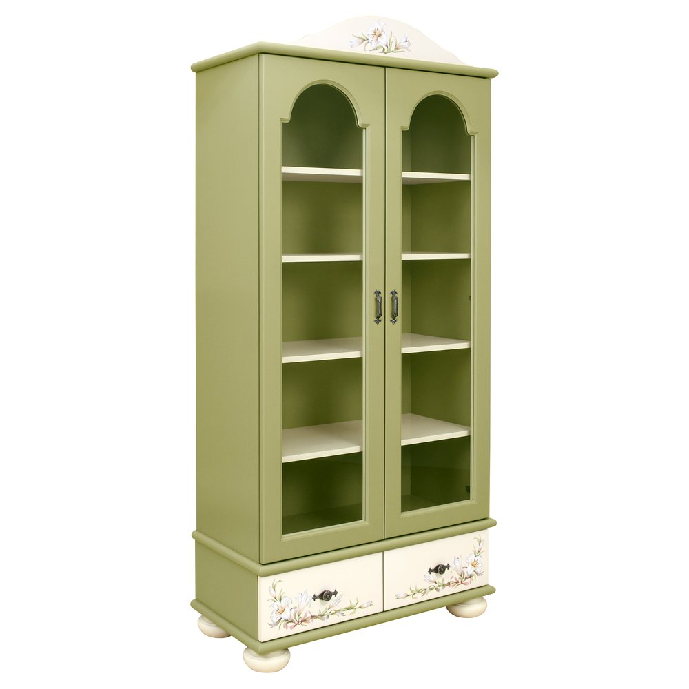 Kids Olive Glazed Bookcase | Children's Storage | Royal Lilies Collection | Woodright Home UK