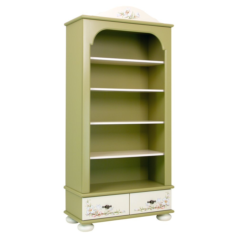 Olive Bookcase with Drawers | Children's Storage | Royal Lilies Collection | Woodright Home UK