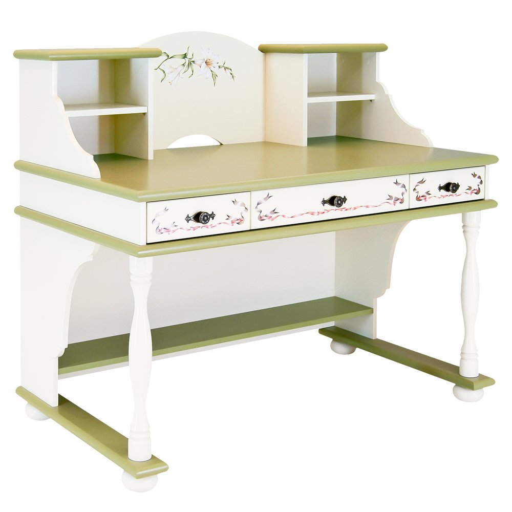 Kids Olive Writing Table with Top | Children's Tables & Chairs | Royal Lilies Collection | Woodright Home UK