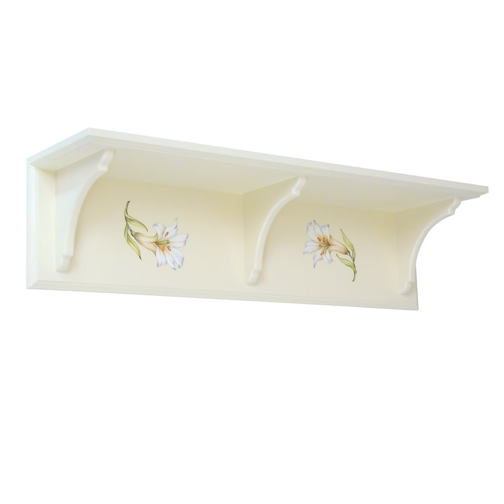 Flower Themed Children's Wall Shelf | Children's Storage | Royal Lilies Collection | Woodright Home UK