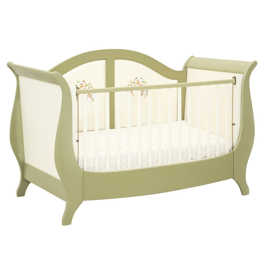 Olive Sleigh Cot Bed | Nursery Furniture | Royal Lilies Collection | Woodright Home UK