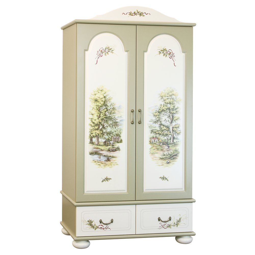 Light Olive Wardrobe | Children's Wardrobes | Rural Scenery Collection | Woodright Home UK