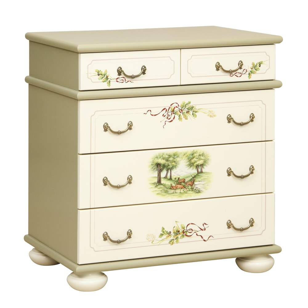 Light Olive Chest of Drawers | Children's Chests of Drawers | Rural Scenery Collection | Woodright Home UK