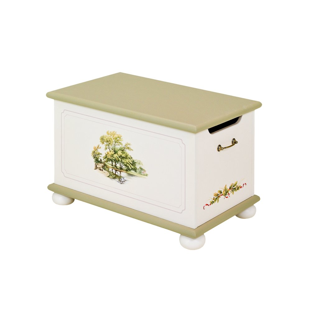 Light Olive Toy Box | Toy Boxes | Rural Scenery Collection | Woodright Home UK