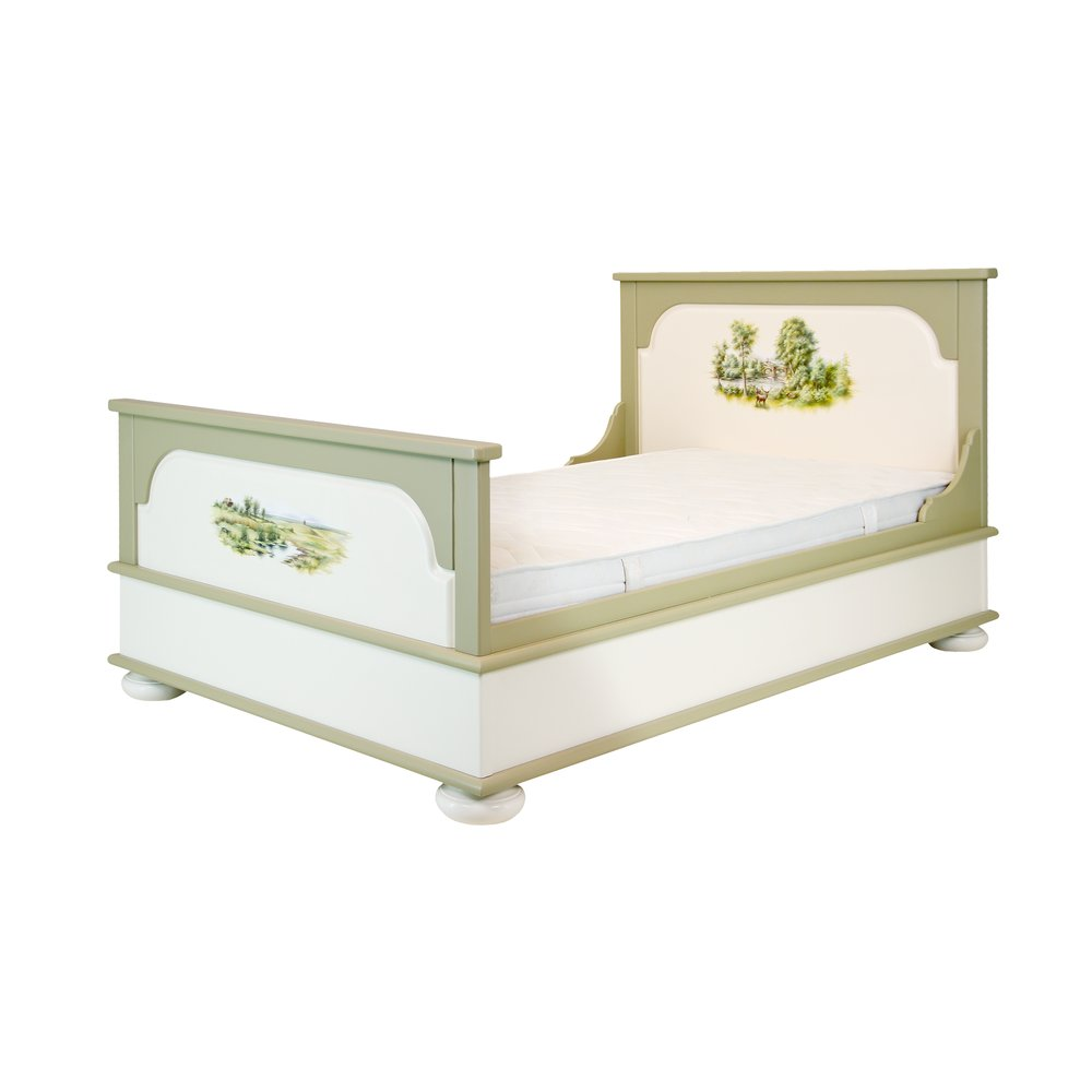 Light Olive Small Double Bed | Children's Beds | Rural Scenery Collection | Woodright Home UK