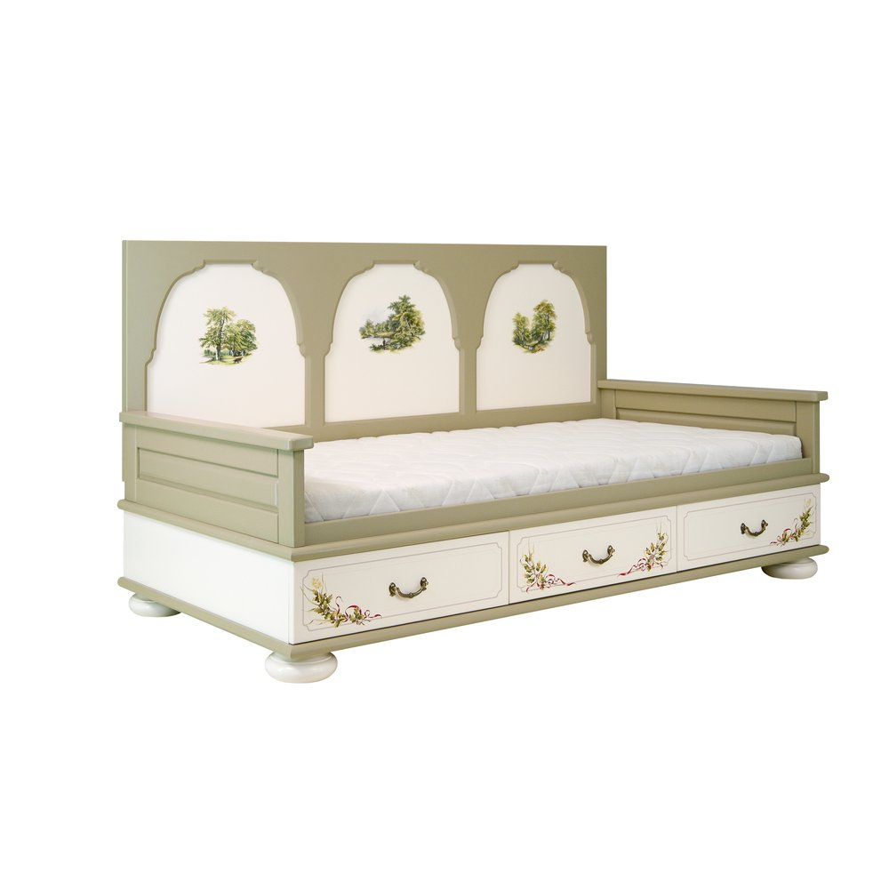 Light Olive Day Bed | Children's Beds | Rural Scenery Collection | Woodright Home UK