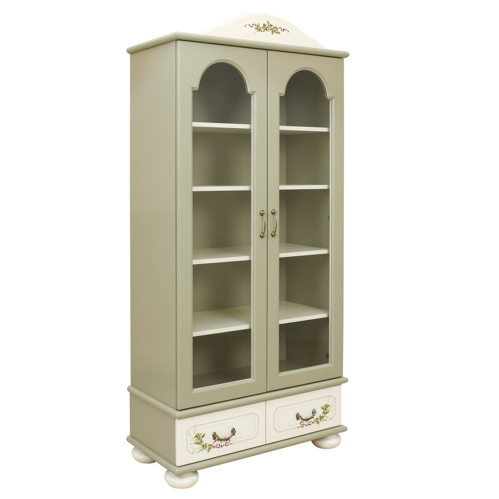Light Olive Glazed Bookcase | Children's Storage | Rural Scenery Collection | Woodright Home UK