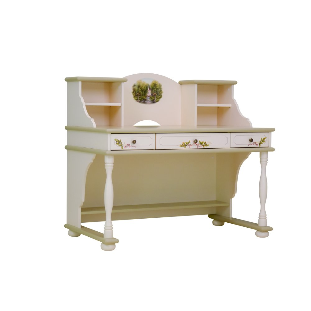 Light Olive Writing Table with Top | Children's Tables & Chairs | Rural Scenery Collection | Woodright Home UK