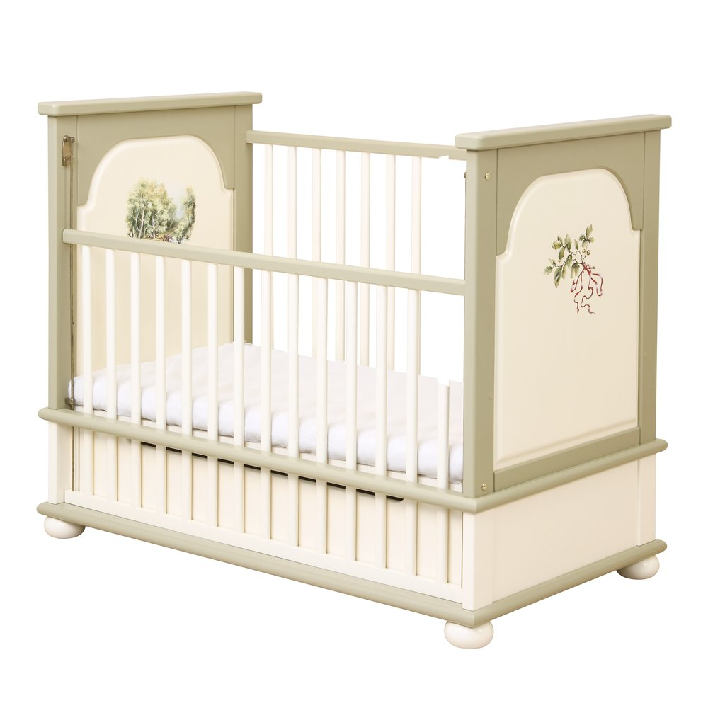 Light Olive Cot Bed | Nursery Furniture | Rural Scenery Collection | Woodright Home UK