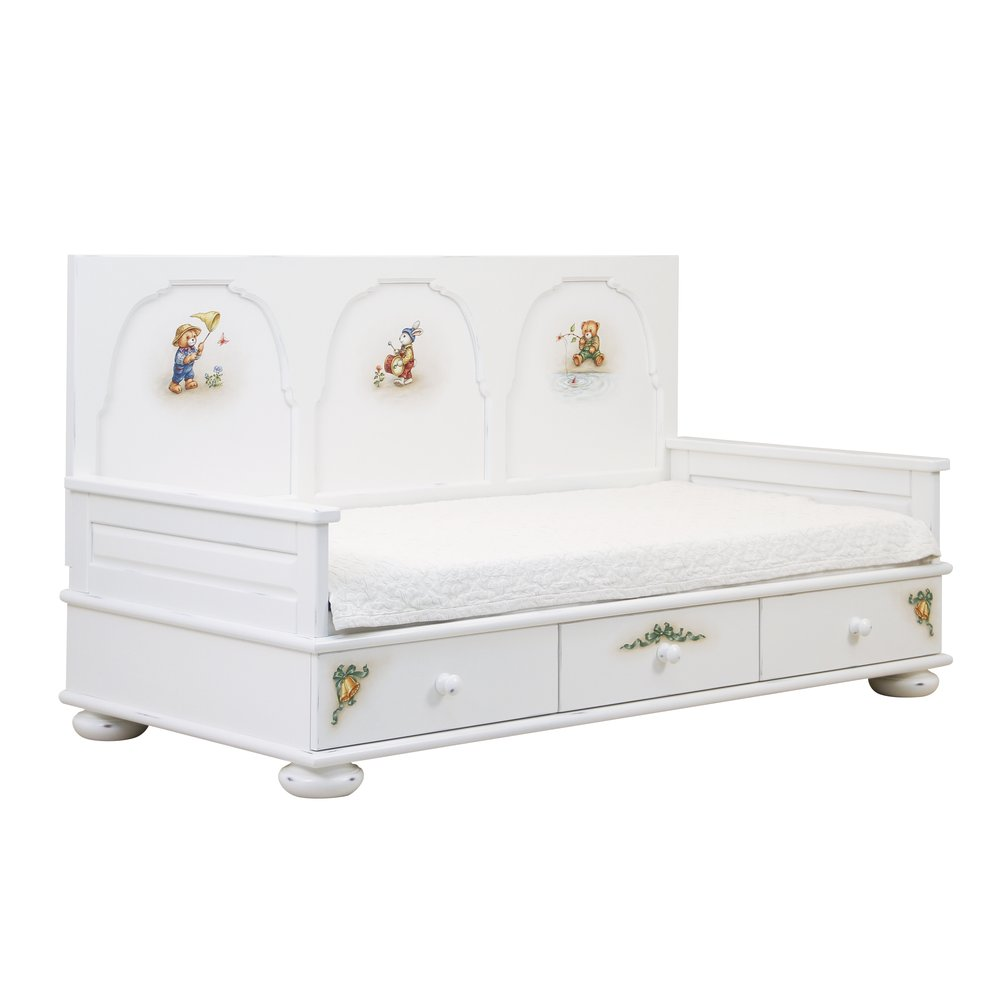 Soft White Day Bed | Children's Beds | Teddy Bear Collection | Woodright Home UK