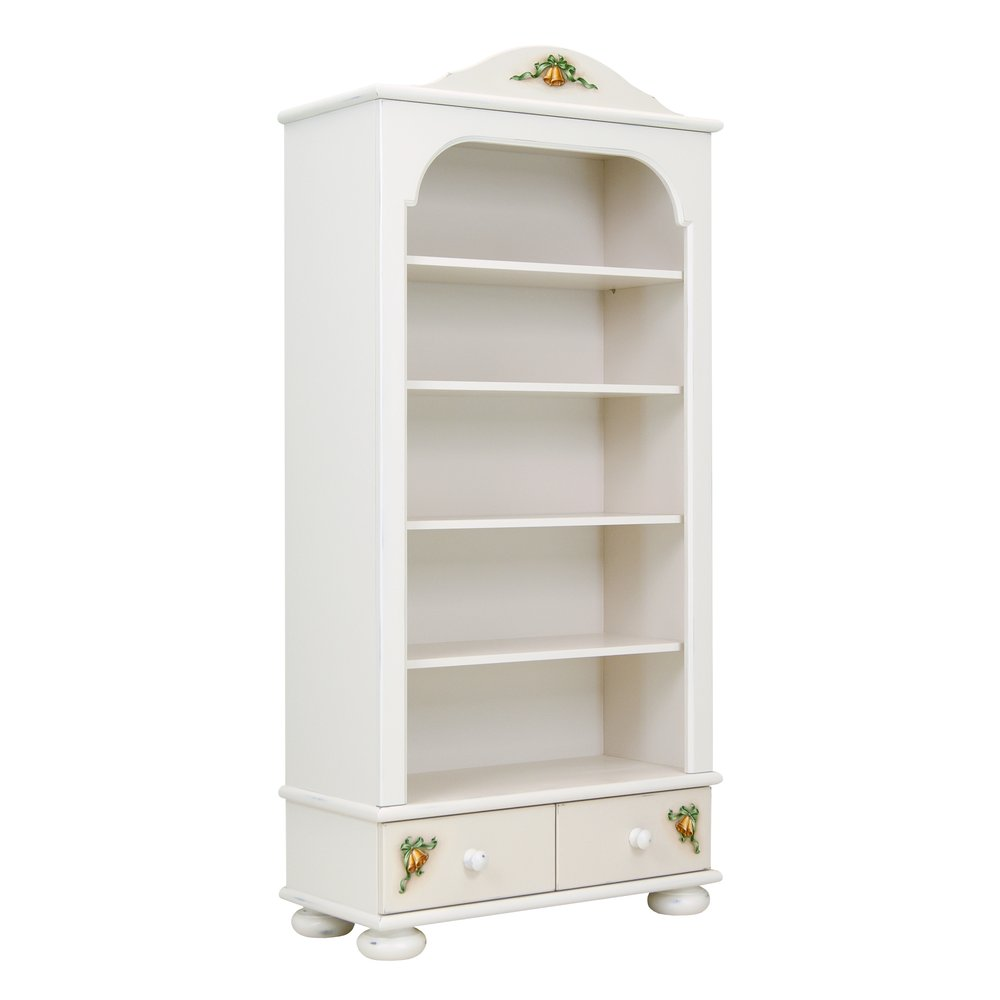 Soft White Bookcase with Drawers | Children's Storage | Teddy Bear Collection | Woodright Home UK