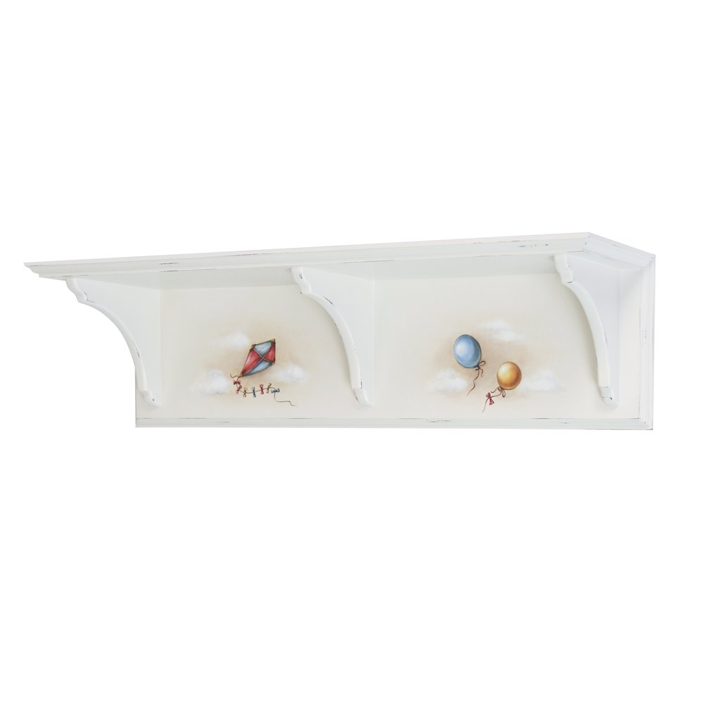 Soft White Wall Shelf | Children's Storage | Teddy Bear Collection | Woodright Home UK