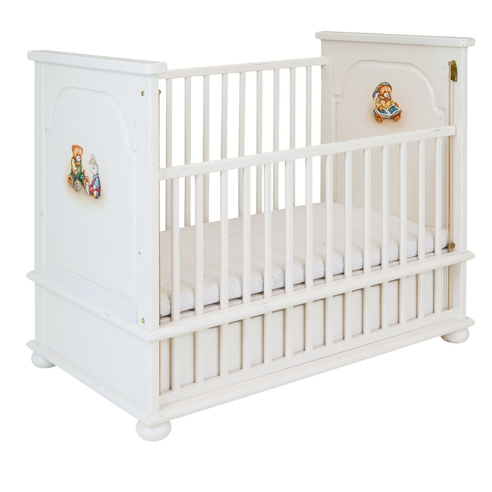 Soft White Cot Bed | Nursery Furniture | Teddy Bear Collection | Woodright Home UK