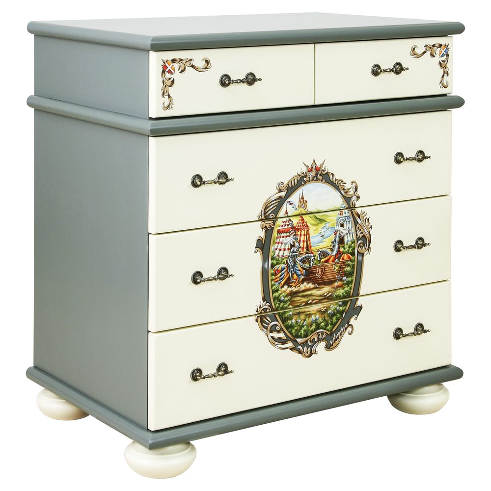 Boy's Grey Chest of Drawers | Children's Chests of Drawers | Templars Collection | Woodright Home UK