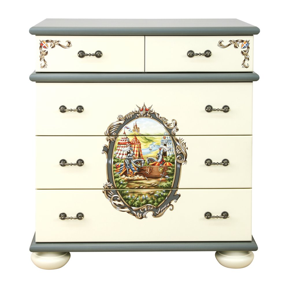 Boy's Grey Chest of Drawers   Children's Chests of Drawers   Templars Collection   Woodright Home UK