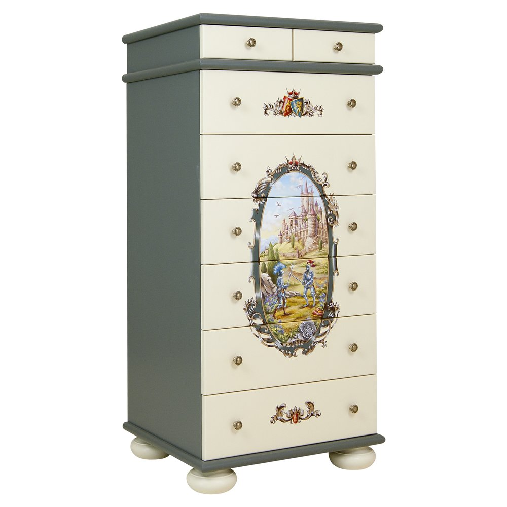 Grey Tall Chest of Drawers | Children's Chests of Drawers | Templars Collection | Woodright Home UK