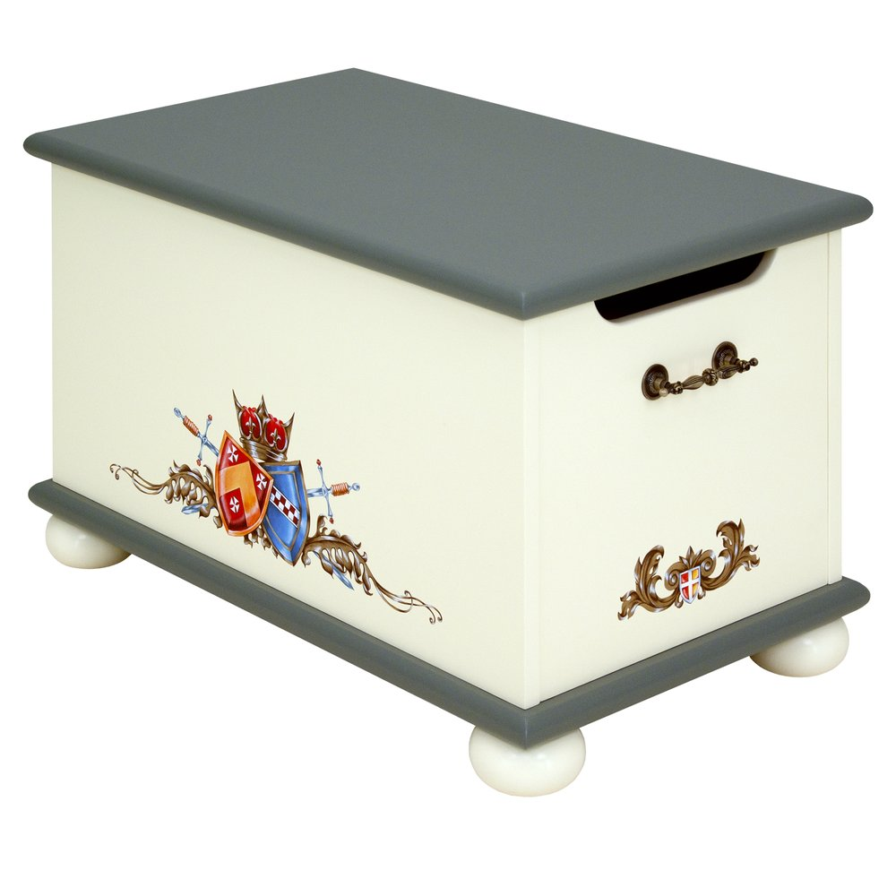 Grey Childrens Toy Box | Toy Boxes | Templars Collection | Woodright Home UK