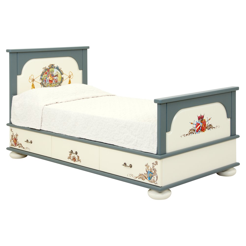 Boy's Grey Single Bed with Drawers   Children's Beds   Templars Collection   Woodright Home UK