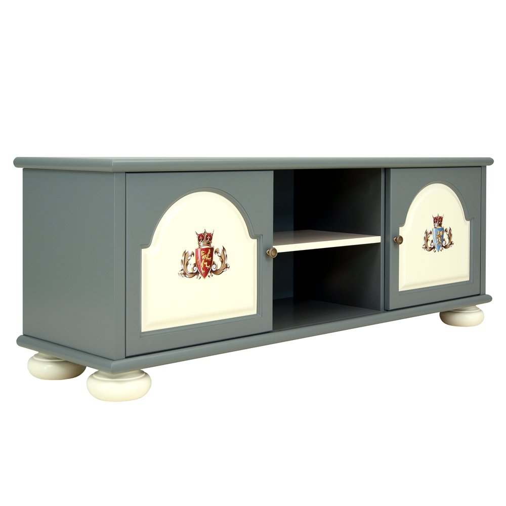 Children's Grey TV Unit | Children's Storage | Templars Collection | Woodright Home UK