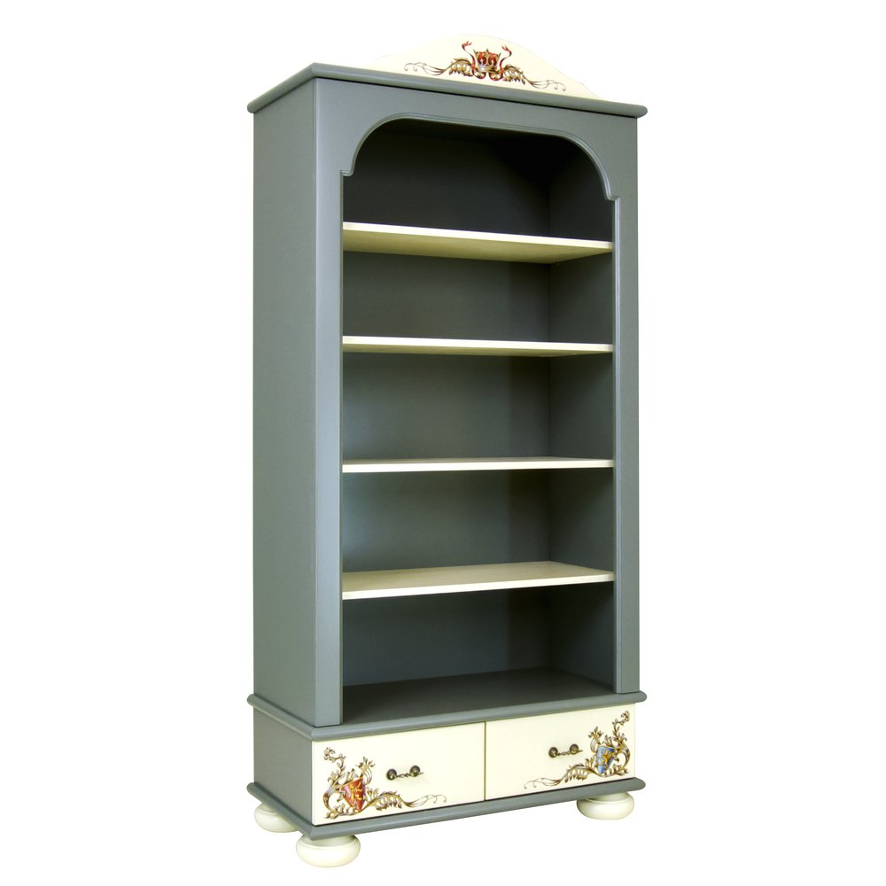 Kids Grey Bookcase with Drawers | Children's Storage | Templars Collection | Woodright Home UK