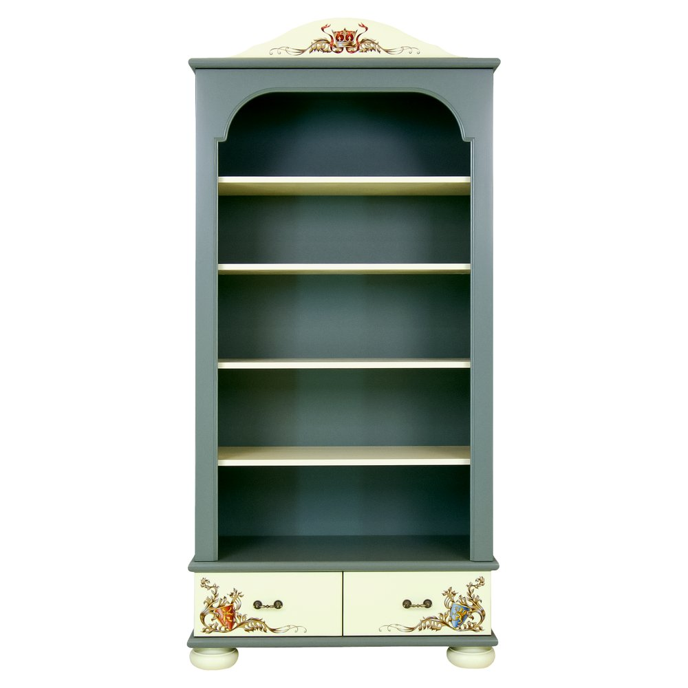 Kids Grey Bookcase with Drawers   Children's Storage   Templars Collection   Woodright Home UK
