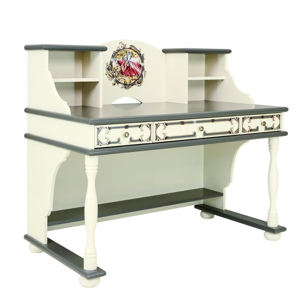 Boy's Grey Writing Table with Top | Children's Tables & Chairs | Templars Collection | Woodright Home UK