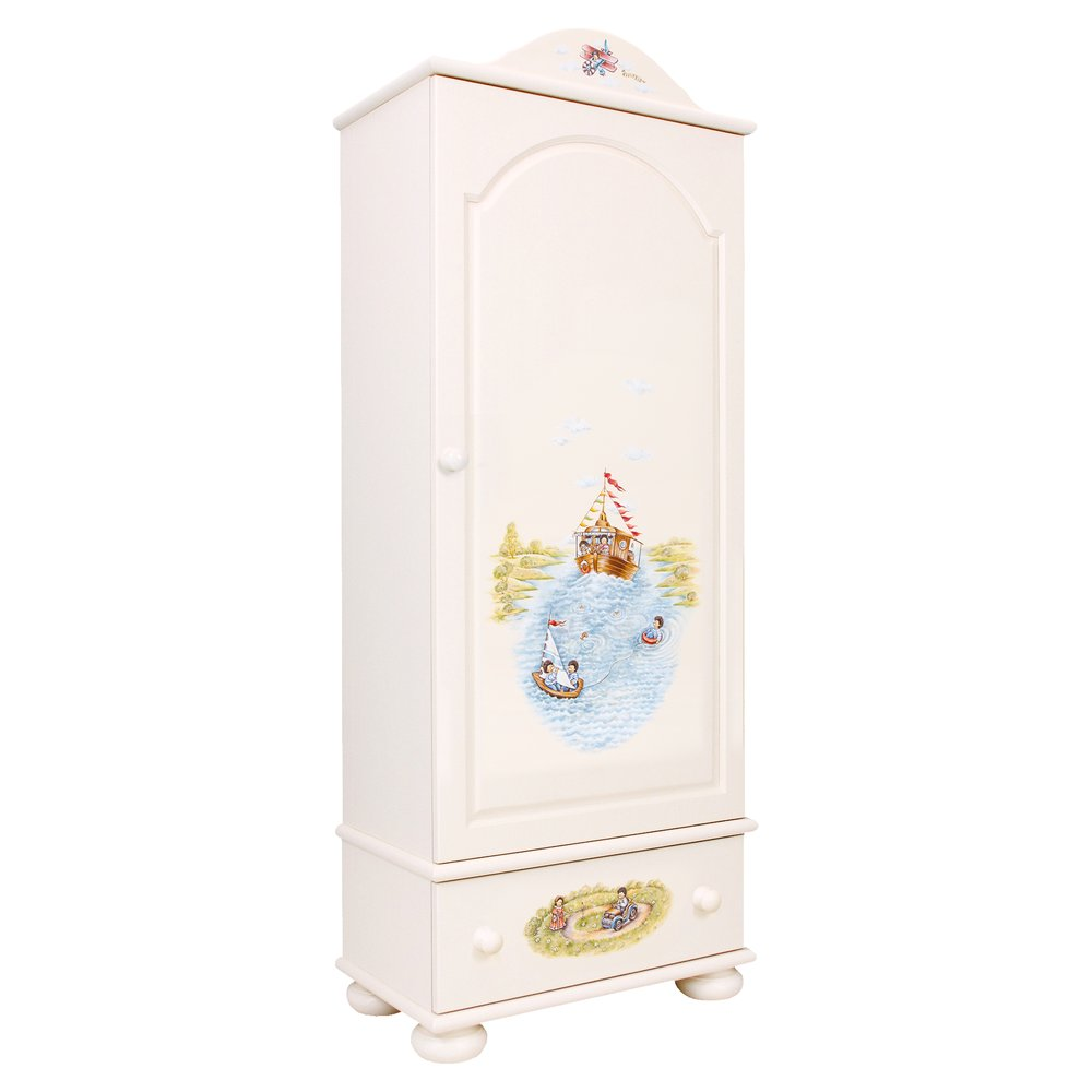 Kids Light Cream Single Wardrobe | Children's Wardrobes | Tiggy-Winkle Collection | Woodright Home UK