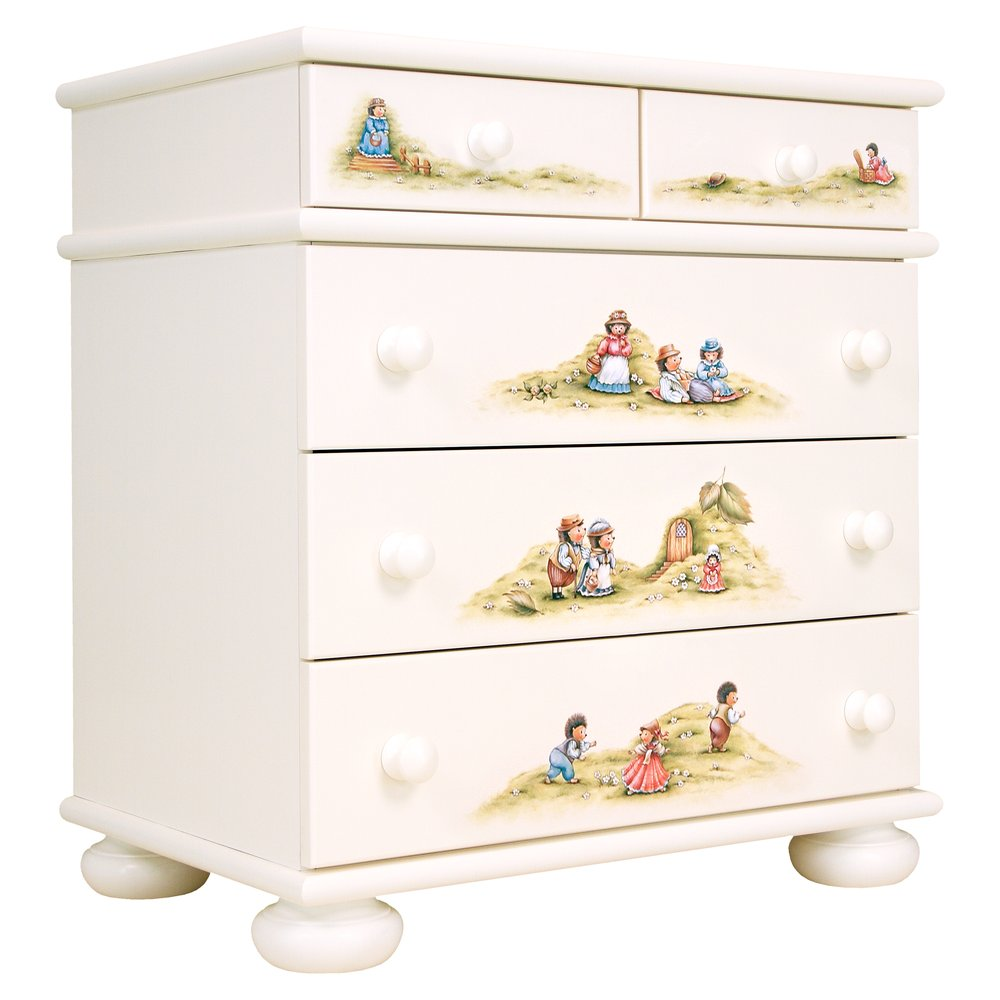 Light Cream Chest of Drawers | Children's Chests of Drawers | Tiggy-Winkle Collection | Woodright Home UK